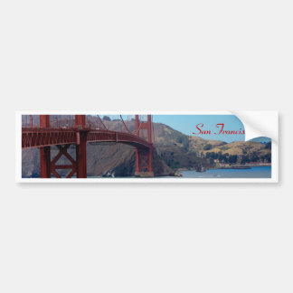 San Francisco, golden gate bridge Autocollant De Voiture
