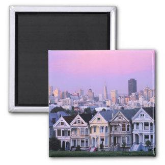 San Francisco, la Californie. Vue de victorien Magnet Carré