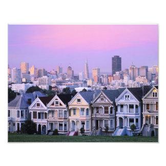 San Francisco, la Californie. Vue de victorien Photographe