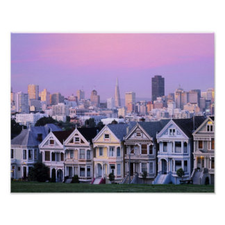 San Francisco, la Californie. Vue de victorien Posters