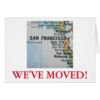 San Francisco nous avons déplacé le faire-part Carte De Vœux