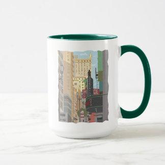 San Francisco-Powell et tasse de café d'O'Farrell