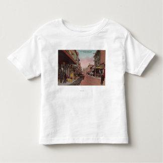 San Francisco, vue de route de CADirt de Chinatown T-shirt Pour Les Tous Petits