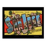 San Jose, scènes de lettre de CaliforniaLarge Carte Postale