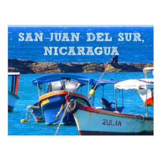 San Juan del Sur, carte postale de bateaux du