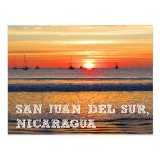 San Juan del Sur, carte postale de coucher du