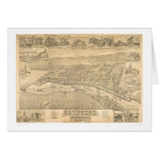 San Pedro, carte panoramique 1895 (1319A) de CA