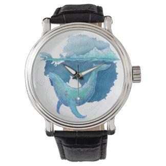 Sanctuaire de baleine d'océan du sud montres cadran