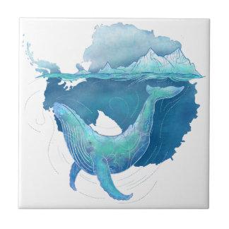 Sanctuaire de baleine d'océan du sud petit carreau carré