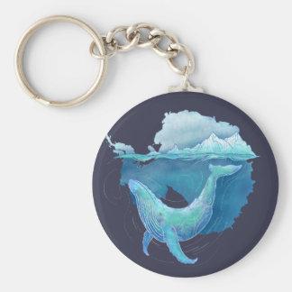Sanctuaire de baleine d'océan du sud porte-clé rond