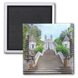 Sanctuaire de Bom Jésus, Braga, Portugal Magnet Carré