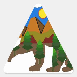Sanctuaire intérieur sticker triangulaire