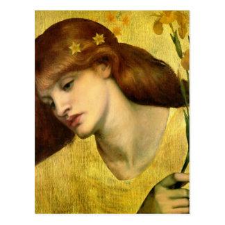 Sanctuaires Lilias de Dante Gabriel Rossetti- Carte Postale