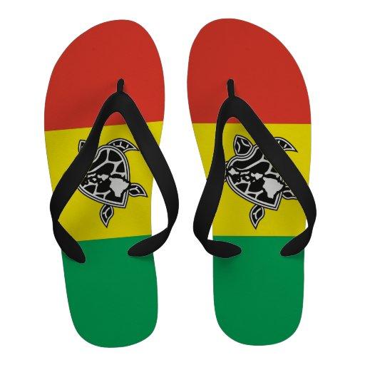 Sandales de reggae de tortue d'Hawaï