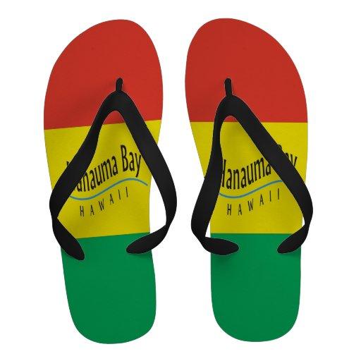 Sandales de reggae d'Hawaï de baie de Hanauma
