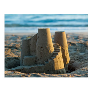 Sandcastle postcard carte postale