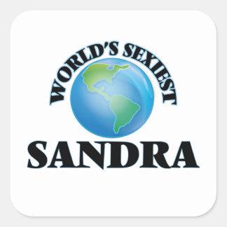 Sandra la plus sexy du monde autocollants carrés