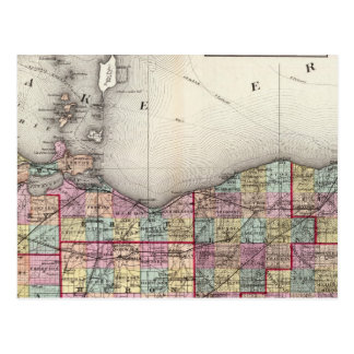 Sandusky, Sénèque, et comtés de sommet Carte Postale