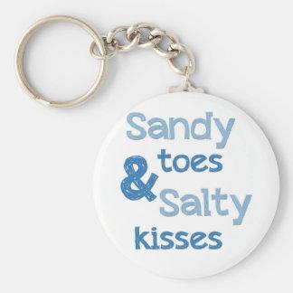 Sandy botte des baisers salés porte-clé rond