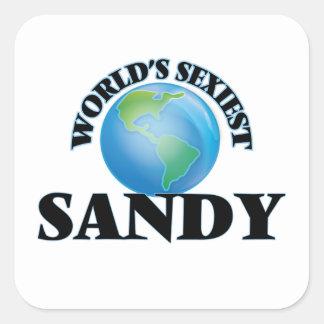 Sandy la plus sexy du monde autocollant carré