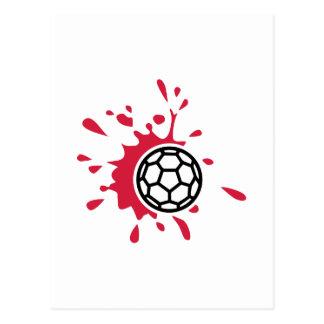 Sang de handball carte postale