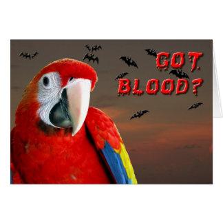 Sang obtenu ? carte de vœux