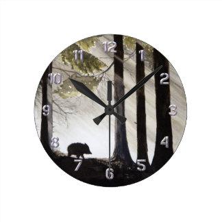 Sanglier Horloge Ronde