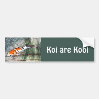 Sanke Koi dans l'étang bleu et vert abstrait Autocollant Pour Voiture