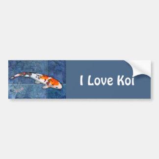 Sanke repéré Koi dans la piscine carrelée avec la  Autocollant Pour Voiture