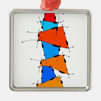 Sanomessia - cubes de fonte ornement carré argenté