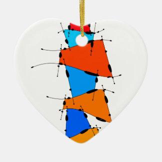 Sanomessia - cubes de fonte ornement cœur en céramique