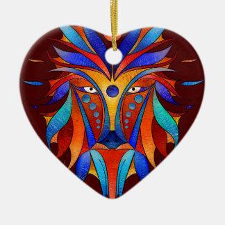 Sanopsilla - le chien ornement cœur en céramique