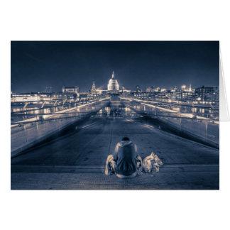 Sans-abri à Londres Carte De Vœux