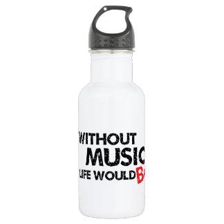 Sans musique, la vie B plat Bouteille D'eau En Acier Inoxydable