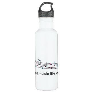 Sans musique, la vie Bb Bouteille D'eau En Acier Inoxydable