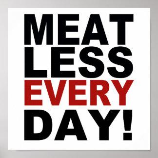 Sans viande chaque jour posters