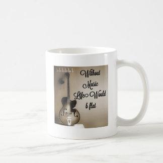 Sans vie de musique b plat mug