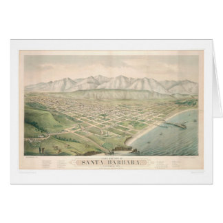 Santa Barbara, carte panoramique 1877 (1581A) de