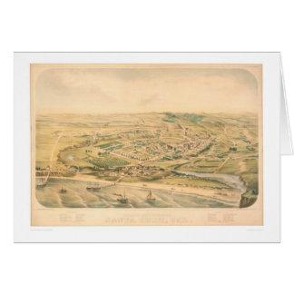Santa Cruz, carte panoramique de CA (1586A) -