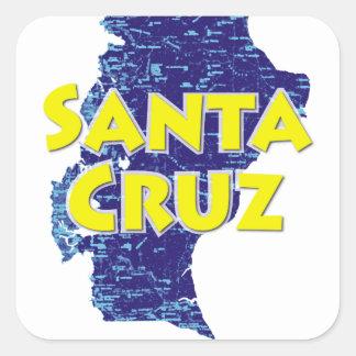 Santa Cruz Sticker Carré