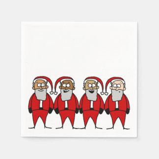 Santa drôles serviette jetable