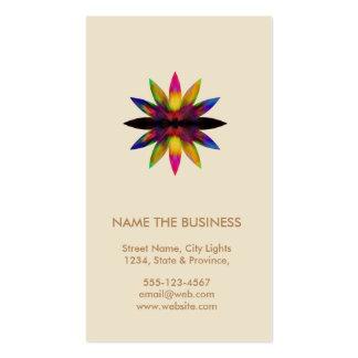 Santé curative de yoga de logo de fleur de Lotus Carte De Visite Standard
