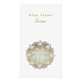 Santé et santé holistiques de logo de Lotus bleu Carte De Visite Standard