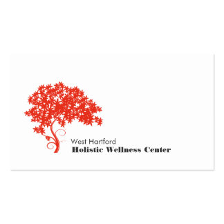 Santé holistique et alternative d arbre rouge modèle de carte de visite