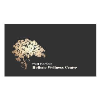 Santé holistique et alternative d'arbre de zen modèles de cartes de visite