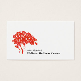 Santé holistique et alternative d'arbre rouge cartes de visite