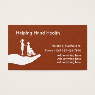 Santé médicale d'infirmière cartes de visite