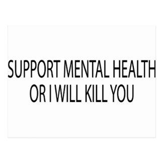 Santé mentale de soutien carte postale