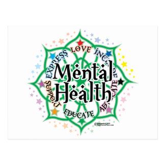 Santé mentale Lotus Carte Postale