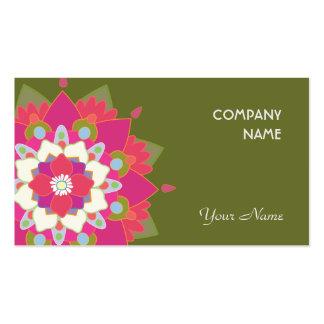 Santé naturelle vibrante et santé de Lotus Cartes De Visite Personnelles